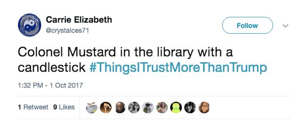 #ThingsITrustMoreThanTrump tweet