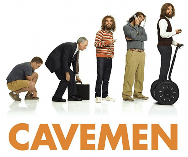 Caveman promotional poster from ABC.