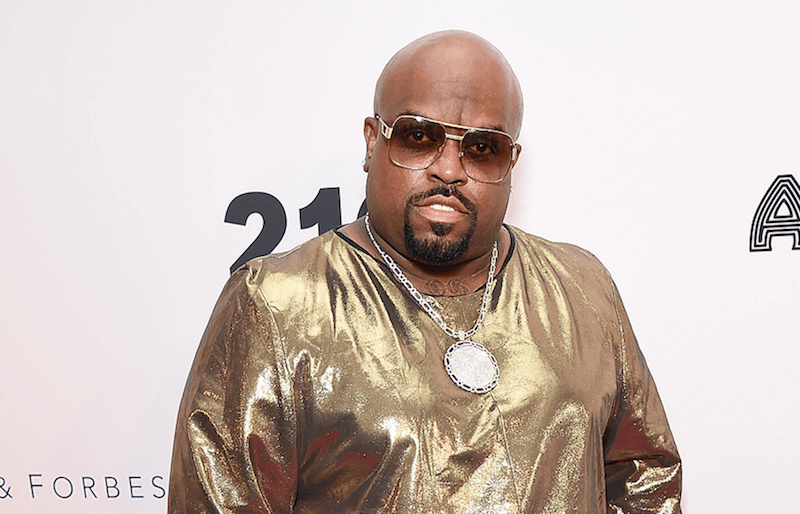 CeeLo Green in a gold shirt