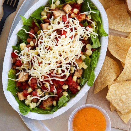 A salad from Chipotle