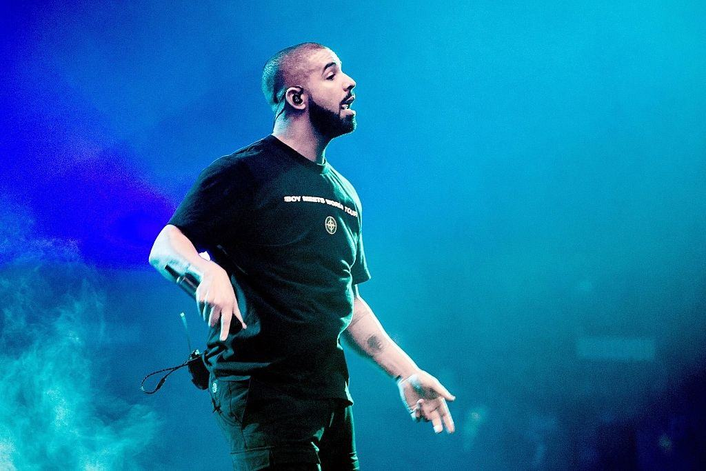 Drake performs on stage on January 28, 2017
