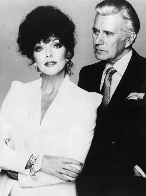 Actors Joan Collins and John Forsythe
