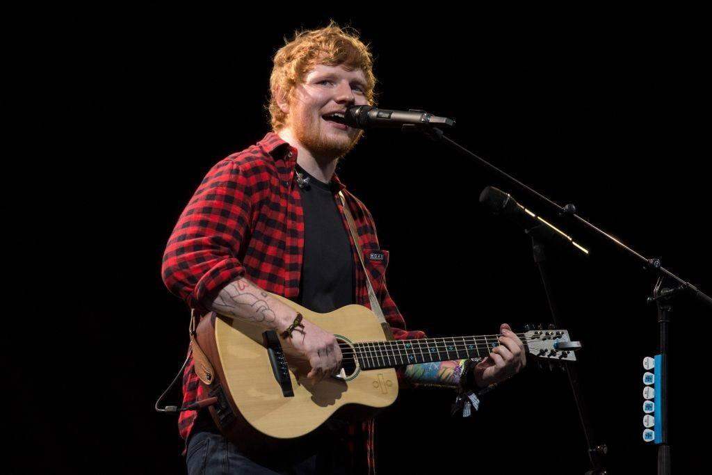 Ed Sheeran performs