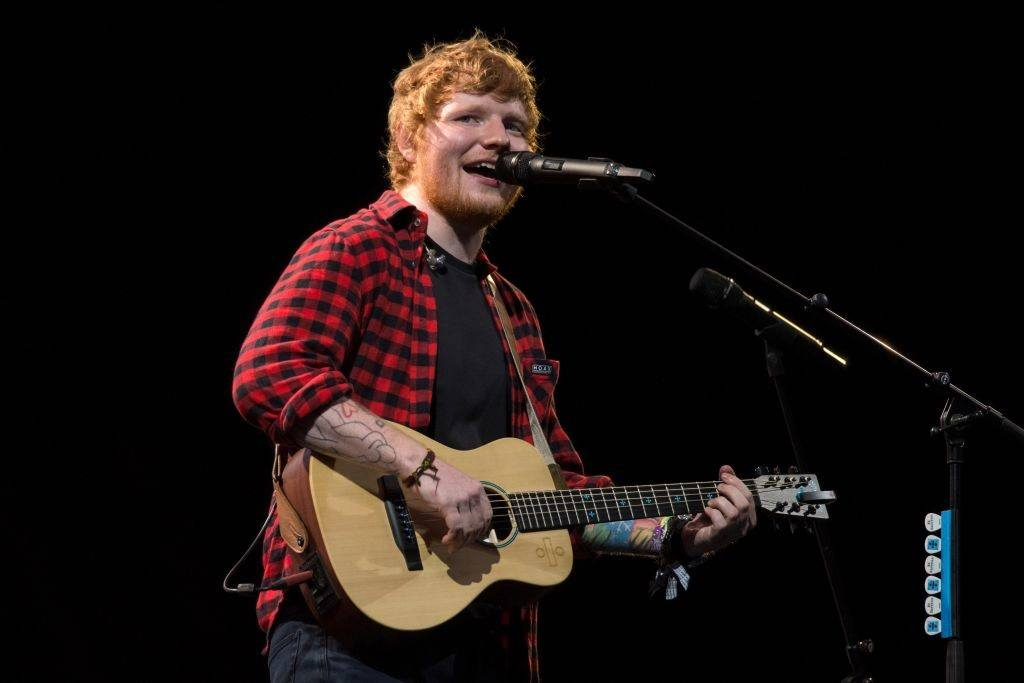 Ed Sheeran performs