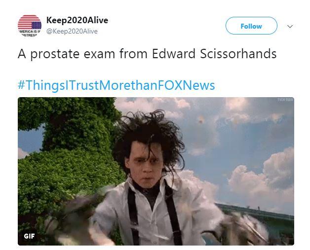 A Tweet about Edward Scissorhands