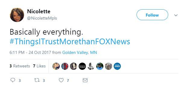 A Tweet about Fox News