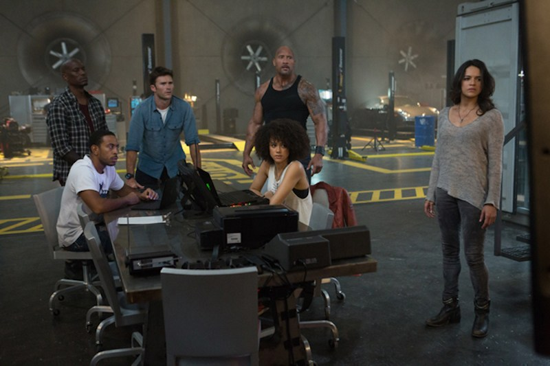 The Fast and Furious cast sits around a table