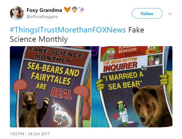 a Tweet of Fake Science Magazine