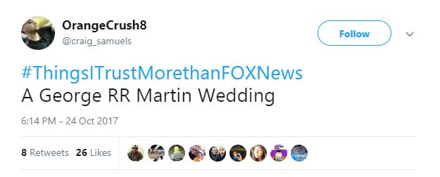 A Tweet about a Game of Thrones wedding