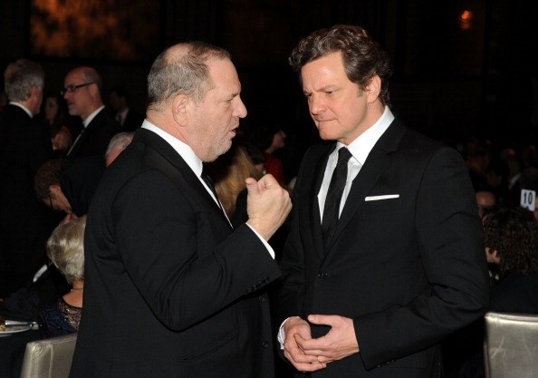 Producer Harvey Weinstein (L) and actor Colin Firth attend the 63rd Annual Directors Guild Of America Awards on January 29, 2011 in Hollywood, California.