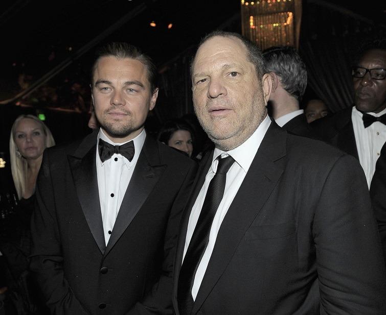 Actor Leonardo DiCaprio (L) and Producer Harvey Weinstein