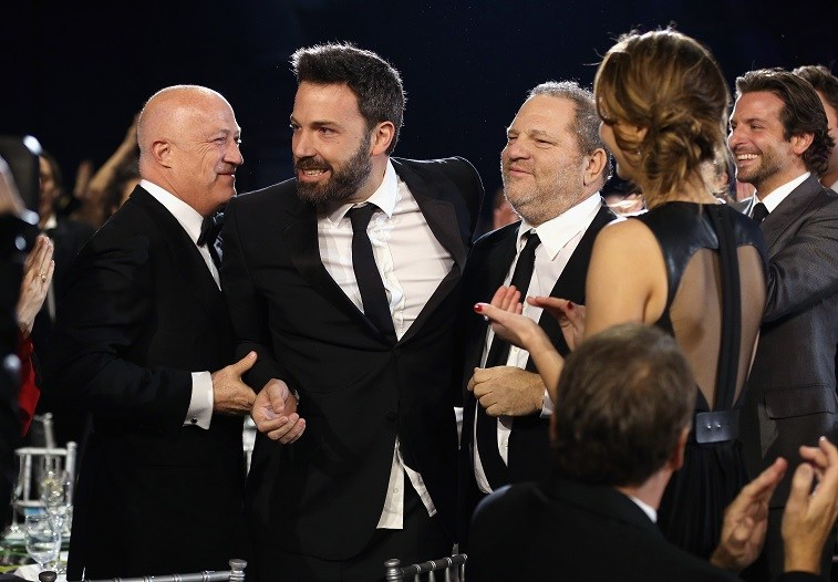 Ben Affleck and Harvey Weinstein attend the 18th Annual Critics' Choice Movie Awards