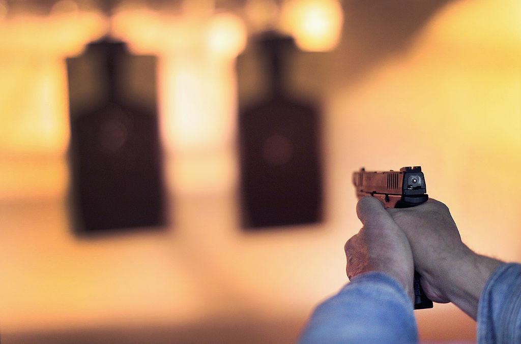 gun range shooter practicing