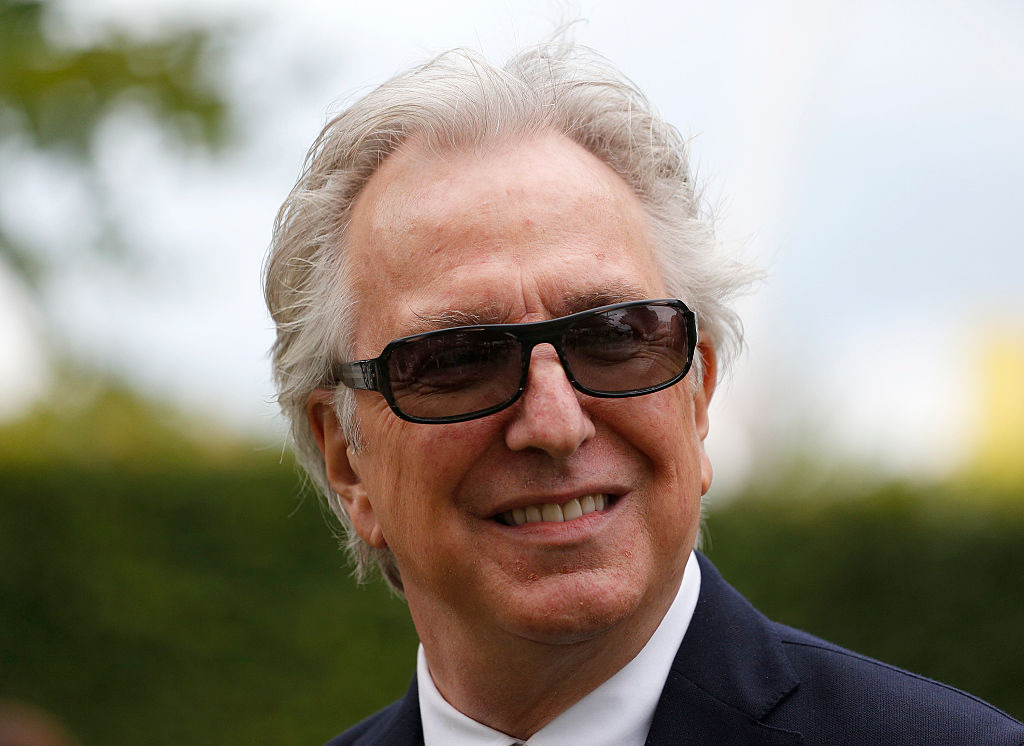 Alan Rickman at Goodwood racecourse on July 29, 2015 in Chichester, England.