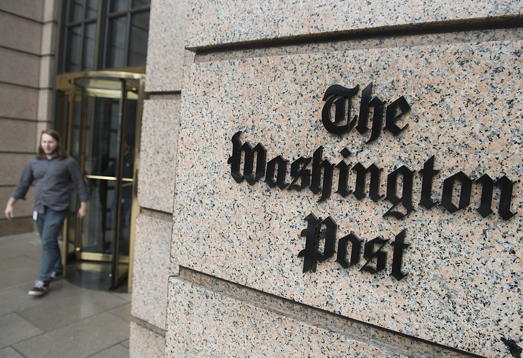 The Washington Post building sign