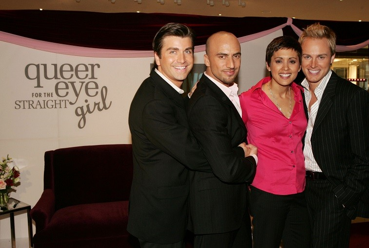 Queer Eye For The Straight Girl cast Damon Pease, Danny Teeson, Robbie Laughlin and Honey Labrador attend the launch of Bravo's new show January 11, 2005 in New York City.