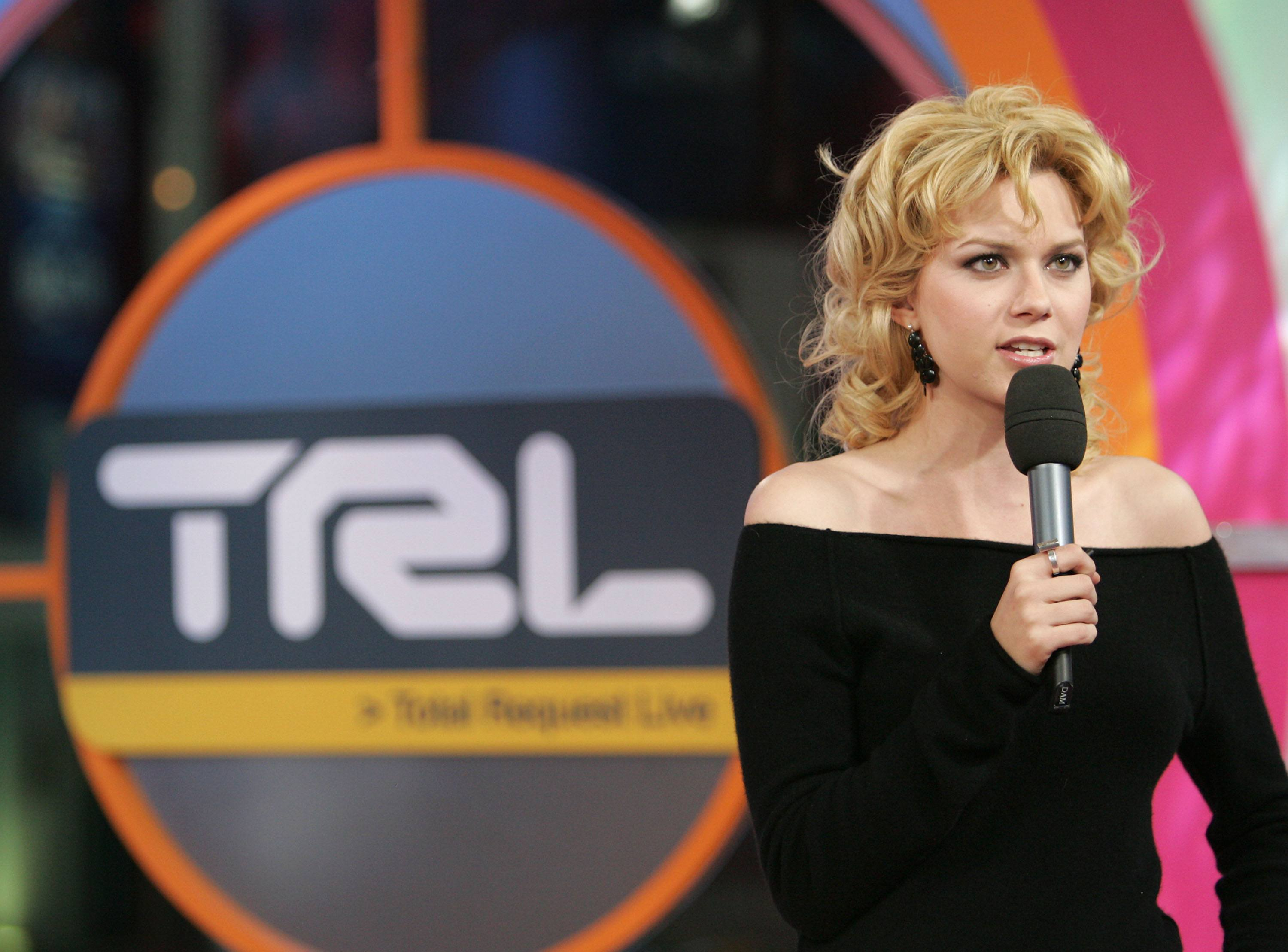 Hilarie Burton on TRL in 2005