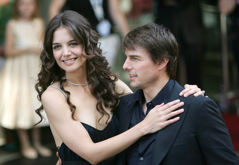 """Katie Holmes and Tom Cruise arrives for the UK Premiere of Tom Cruise's new blockbuster """"War Of The Worlds"""""""