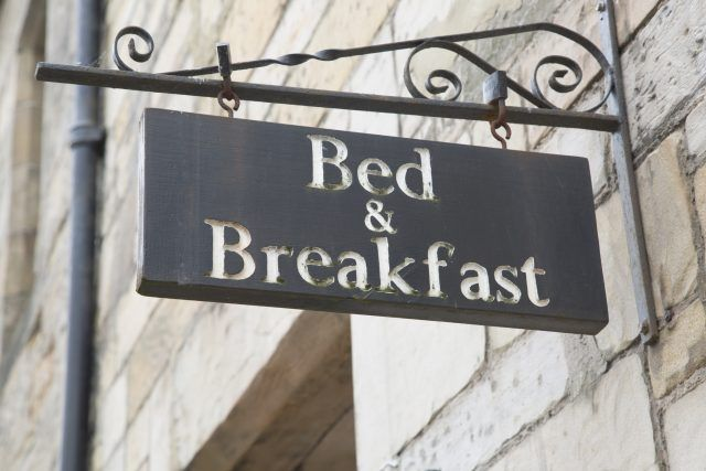 Bed and Breakfast Accommodation Sign