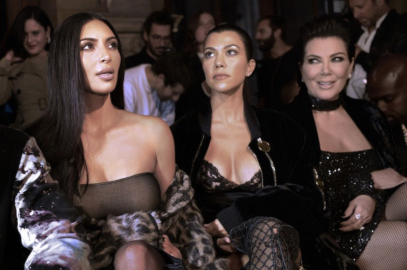 Kim Kardashian, Kourtney Kardashian and Kris Jenner attend the Off-white 2017 Spring/Summer ready-to-wear collection fashion show