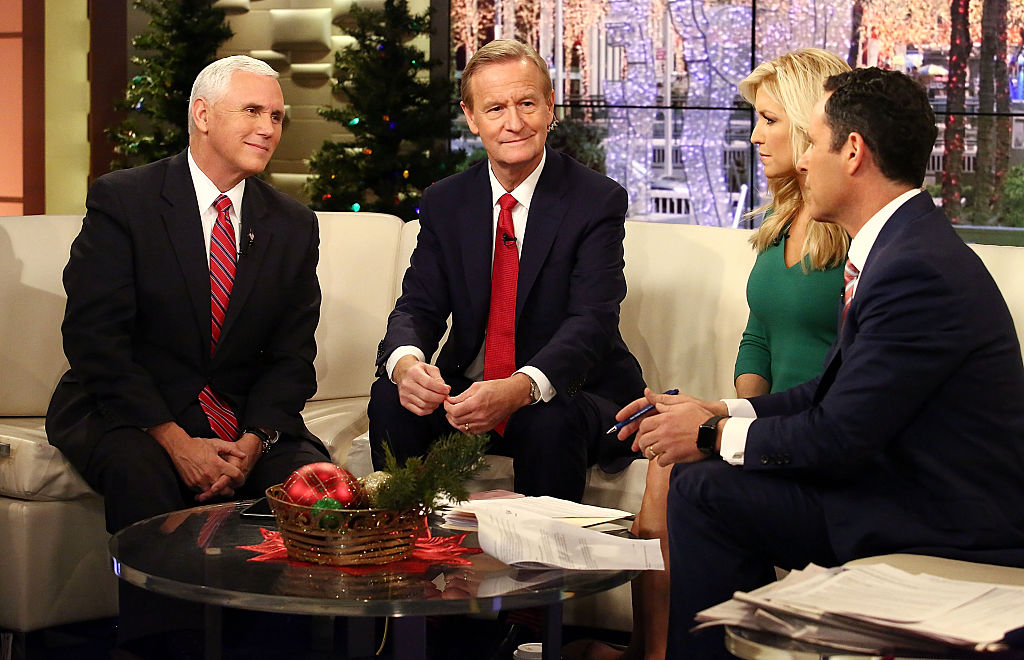Mike Pence on the set of Fox and Friends