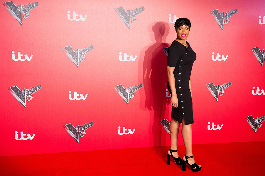 Jennifer Hudson arrives for the press launch of The Voice UK at Millbank Tower on January 4, 2017 in London, England.