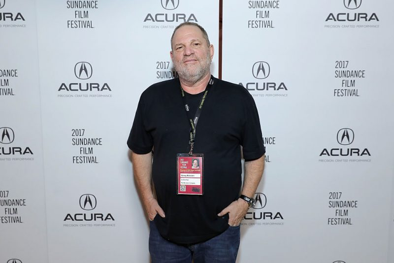 Harvey Weinstein poses with his hands in his pockets in 2017