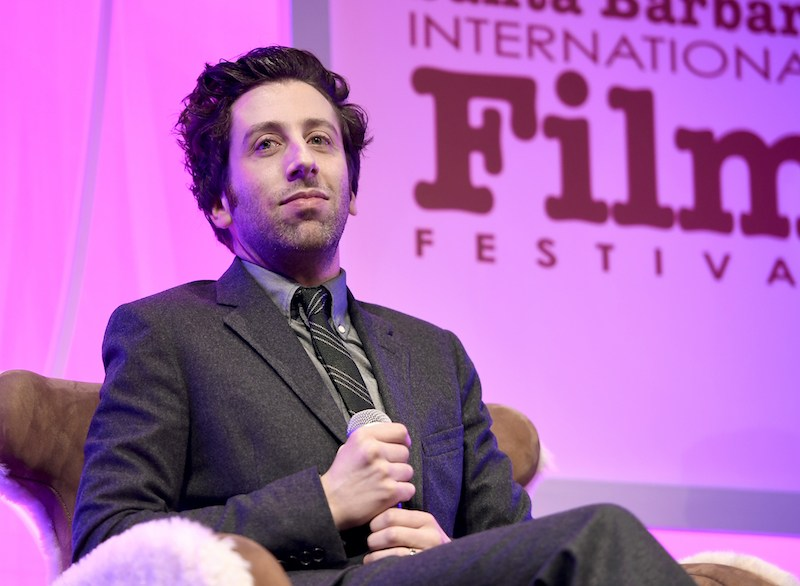 Actor Simon Helberg speaks onstage during the Virtuosos Award presented by UGG during the 32nd Santa Barbara International Film Festival at the Arlington Theatre on February 4, 2017