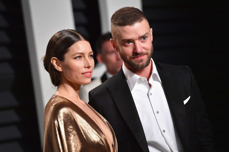 Jessica Biel and Justin Timberlake attend the Vanity Fair 2017 Oscar Party