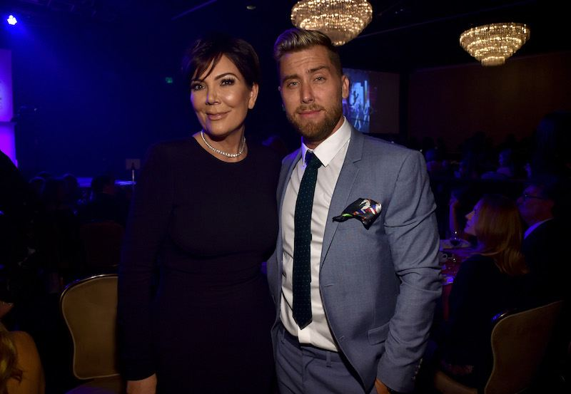 Kris Jenner and Lance Bass pose for cameras