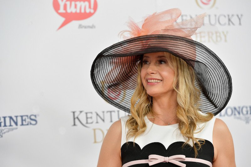 Mira Sorvino attends the 143rd Kentucky Derby at Churchill Downs on May 6, 2017 in Louisville, Kentucky.