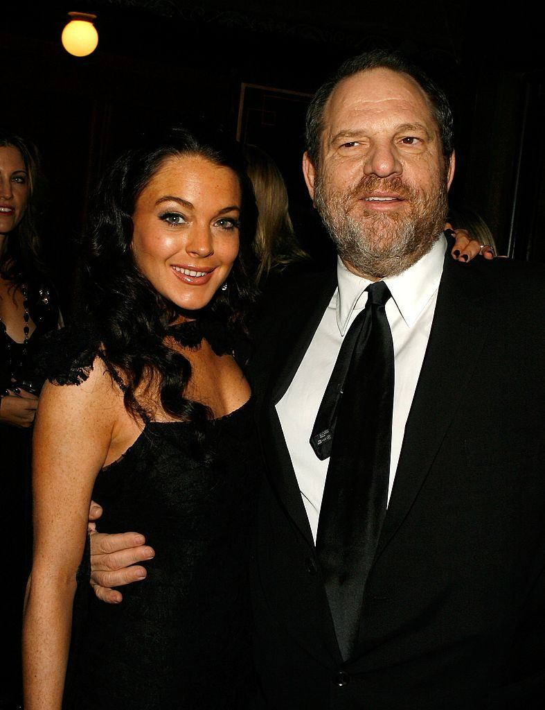 Lindsay Lohan and Harvey Weinstein at AFI FEST in 2006