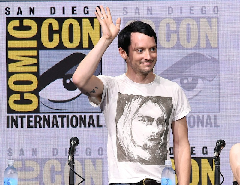 Actor Elijah Wood at Dirk Gently's Holistic Detective Agency: BBC America Official Panel during Comic-Con International 2017