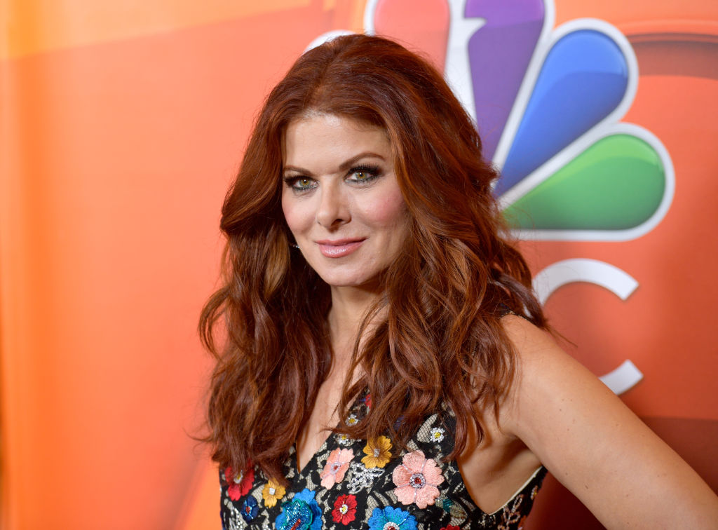 Debra Messing poses in a floral dress at the NBCUniversal Summer TCA Press Tour at The Beverly Hilton Hotel on August 3, 2017 in Beverly Hills, California.