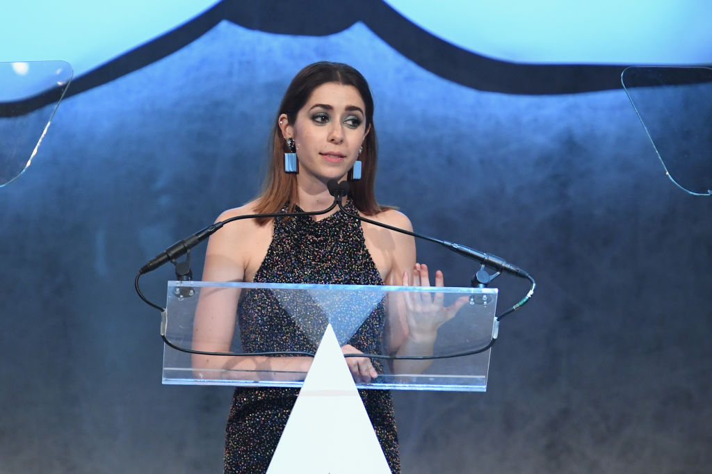 Cristin Milioti speaks onstage at the Accessories Council's 21st Annual celebration of the ACE awards at Cipriani 42nd Street on August 7, 2017 in New York City.