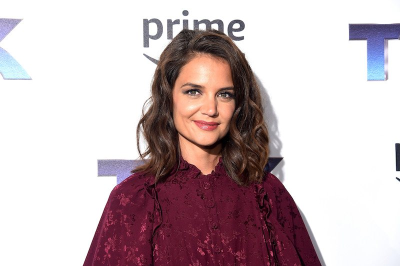 """Katie Holmes attends """"The Tick"""" Blue Carpet Premiere at Village East Cinema on August 16, 2017 in New York City."""
