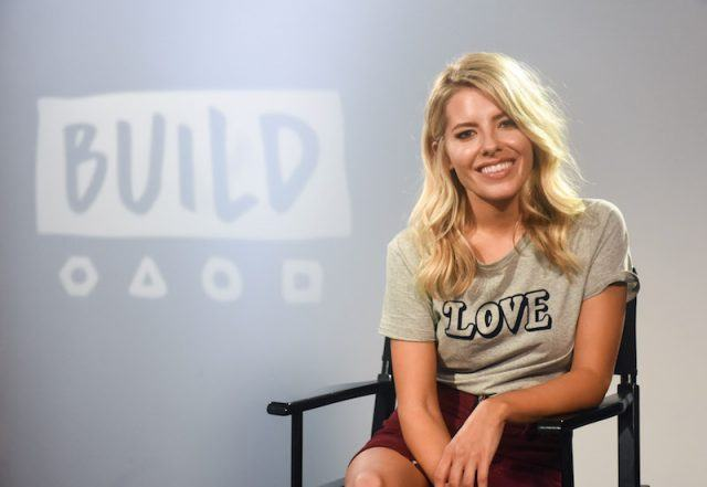 Mollie King during a BUILD series event.