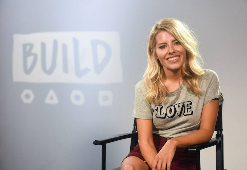 Mollie King during a BUILD series event