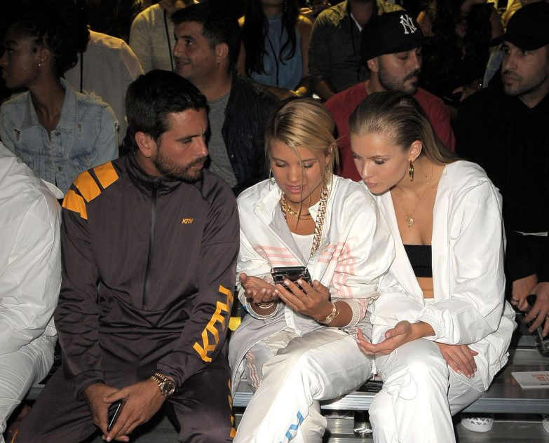 Scott Disick, Sofia Richie and Josie Marie Canseco attend Kith Sport fashion show during New York Fashion Week at the Classic Car Club