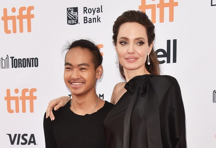 Angelina Jolie with her son, Maddox Jolie-Pitt, in 2017.