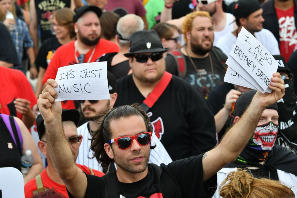 a group of juggalos protesting in washington D.C.