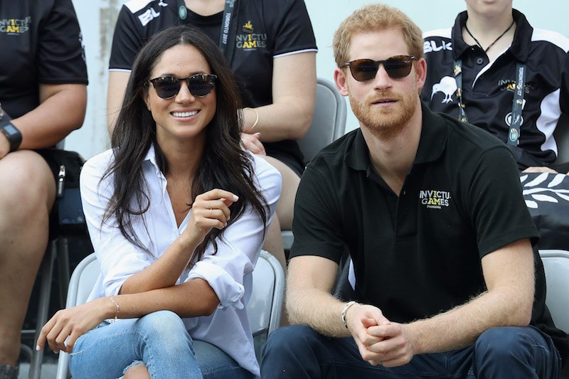 Prince Harry and Meghan Markle attend a Wheelchair Tennis match during the Invictus Games 2017