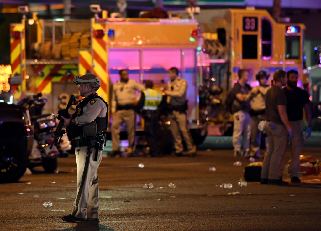 police at Las Vegas shooting