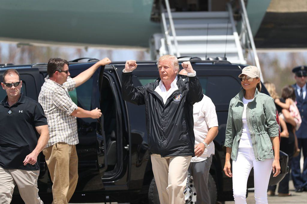 Trump arrives in Puerto Rico