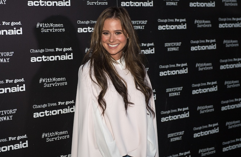 Camilla Thurlow during the ActionAid Fashion Show held at The Old Truman Brewery on October 10, 2017 i