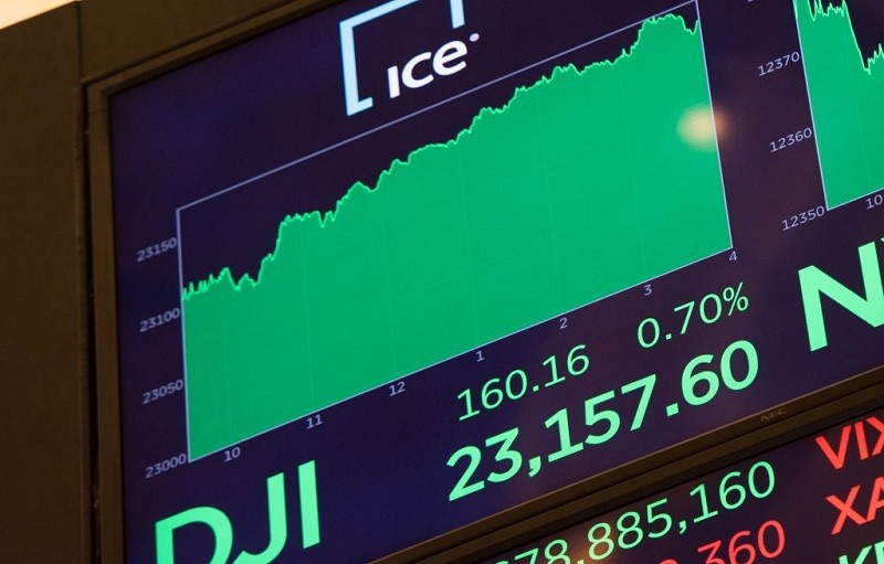 A look at the stock market record on October 18, 2017