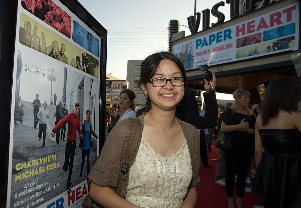 Charlyne Yi at a screening of Paper Heart