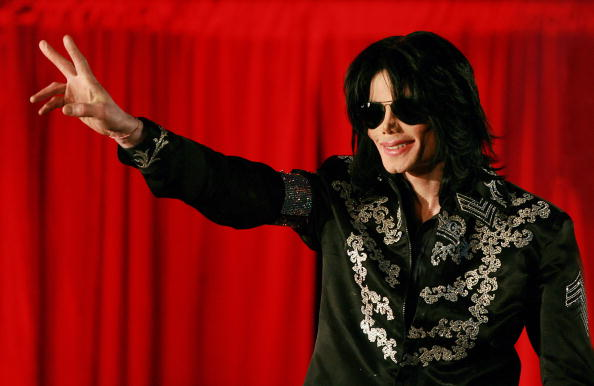 Michael Jackson greeting fans at the O2 arena.
