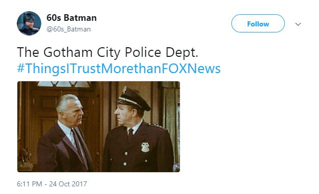 A Tweet about the Gotham PD