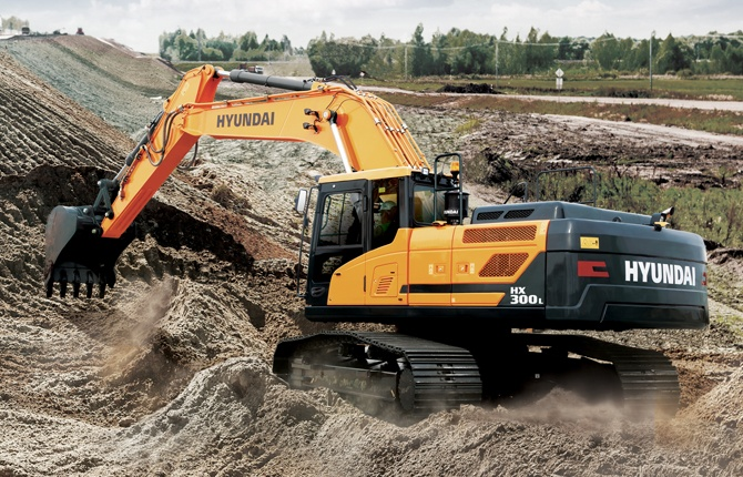 Hyundai HX300L excavator